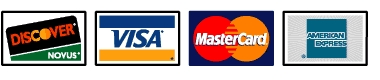 Amex. Discover, Mastercard,Visa accepted online