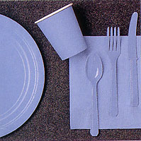 Lt Blue Partyware