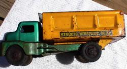 Structo Dump Truck Orange/Green rt side