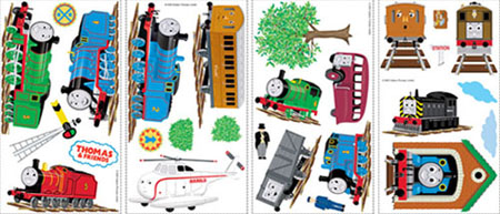 Thomas and Friends Wall Applique Stickers